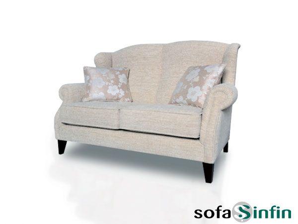 Sofá clásico de 3 y 2 plazas modelo Mini fabricado por De Paula en Sofassinfin.es