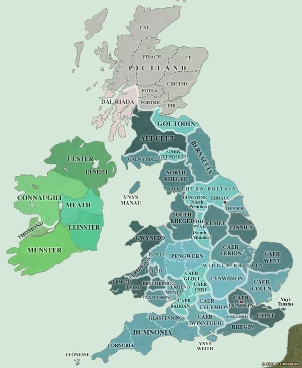 Map o Brydain ag Iwerddon