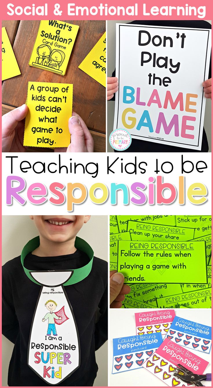 Teach children about responsibility, goal setting, conflict resolution, and anti-bullying in the classroom with these social emotional learning lessons and hands-on activities for kids. Children will build social skills with picture books and writing lessons, responsibility games, role playing, and more. #sel #socialemotionlearning #classroommanagement #charactereducation #socialskills #responsibilityactivities #teachingresponsibility #charactereducation