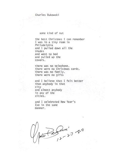 Christmas by Bukowski