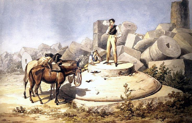 Портрет В. А. Перовского на капители колонны. 1824. ?