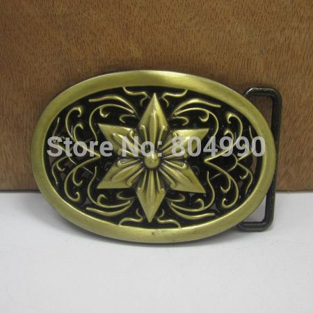Western belt buckle with antique brass finish FP-03408-1 suitable for 4cm wideth belt with continous stock