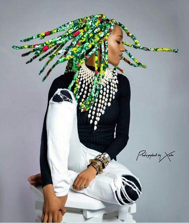 Singer Di Ja Rocks New Hair Style Ankara Braids The Beginning Of A New Hair Trend Afro Punk Fashion African Braids Styles Cool Braid Hairstyles