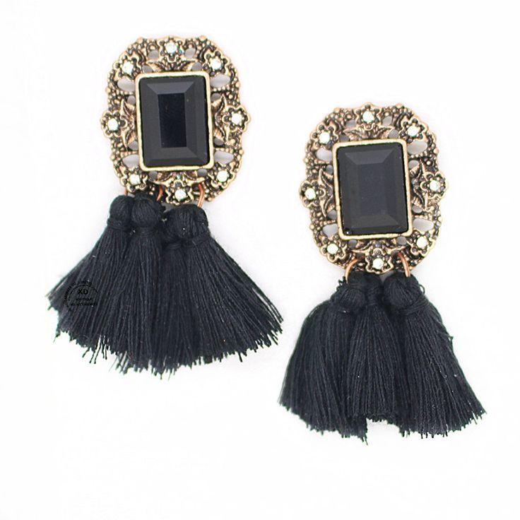 2016 새로운 패션 보석 뜨거운 판매 여성의 빈티지 술 귀걸이 크리스탈 턱받이 문 스터드 귀걸이 여성 보석-에서pendientes 심장 귀걸이…