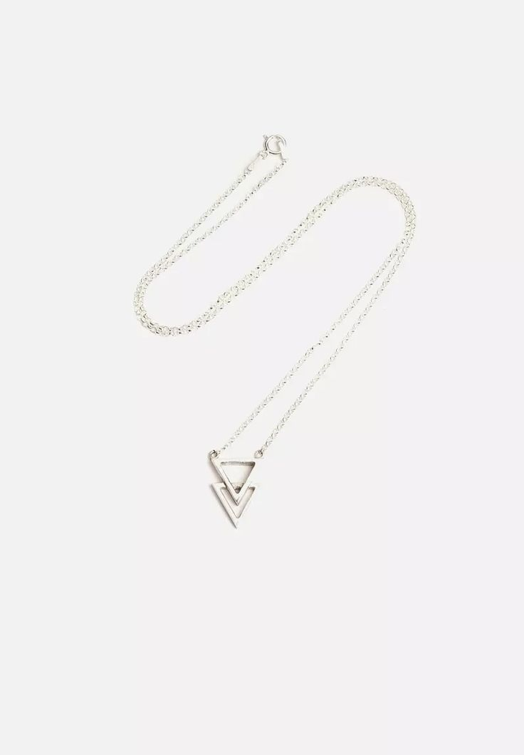 Double Triangle Pendant