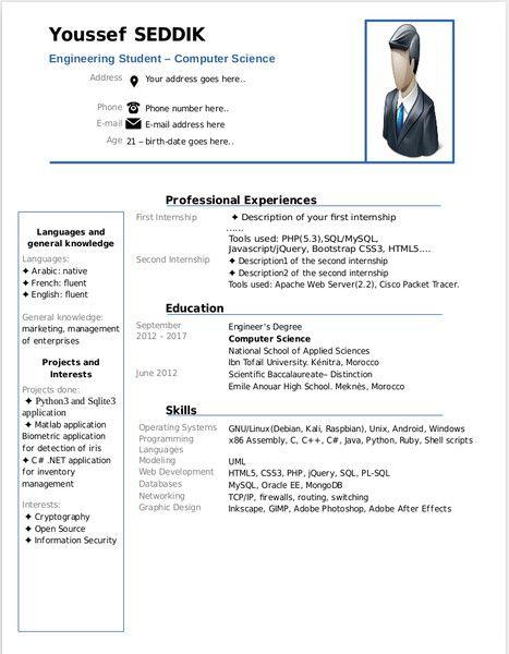 Resume Format Libreoffice Resume Format Pinterest Resume