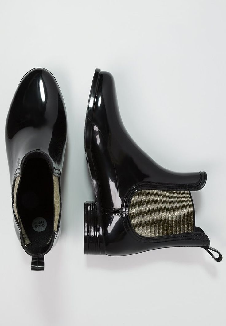 Gioseppo DERBY - Bottes en caoutchouc - black/gold - ZALANDO.FR