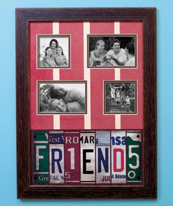 License Plate Collage Frames