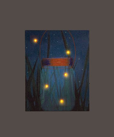 Light Up Firefly Art... lots of other cool light-up canvas art options!