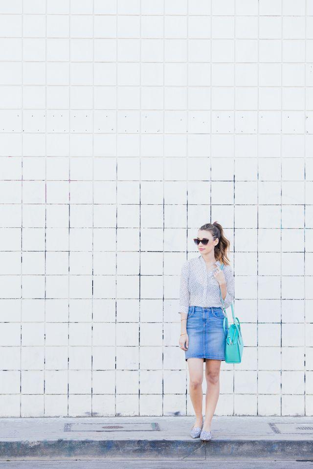 how to wear a denim mini skirt M Loves M @marmar
