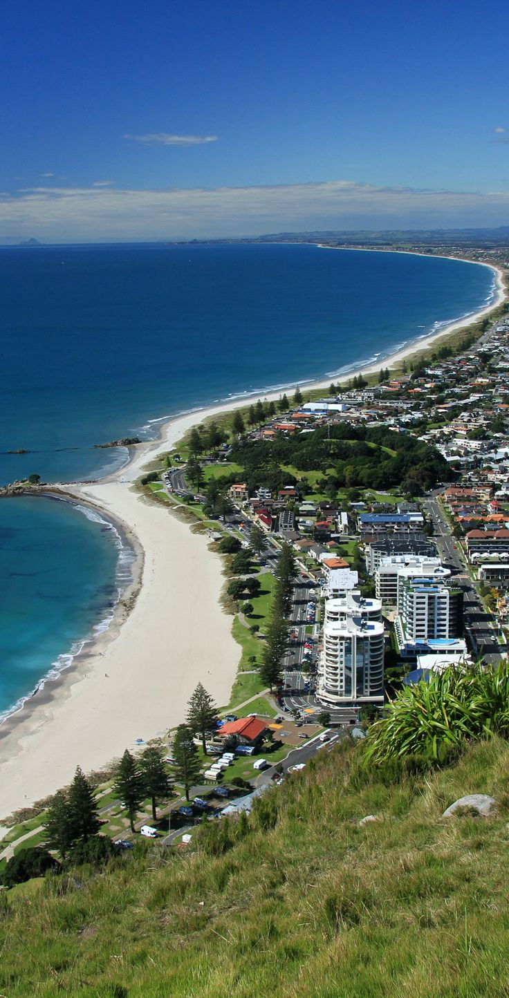 Walking up Mount Maunganui/ Mauau - the Pacific Ocean and the coastline trailing off into the distance. This is the Bay of Plenty aptly named by Captain Cook and his crew upon discovering this bountiful bay filled with fruit, seafood and a friendly Maori