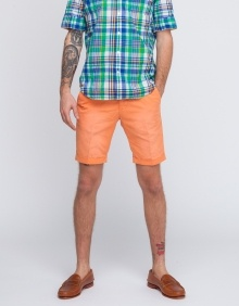 Canvas Shorts In Pumpkin