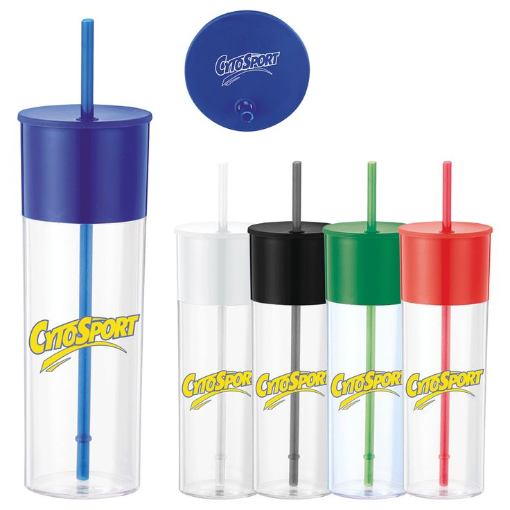 PCR-6672 Color Band 22-Oz. Tumbler With Straw