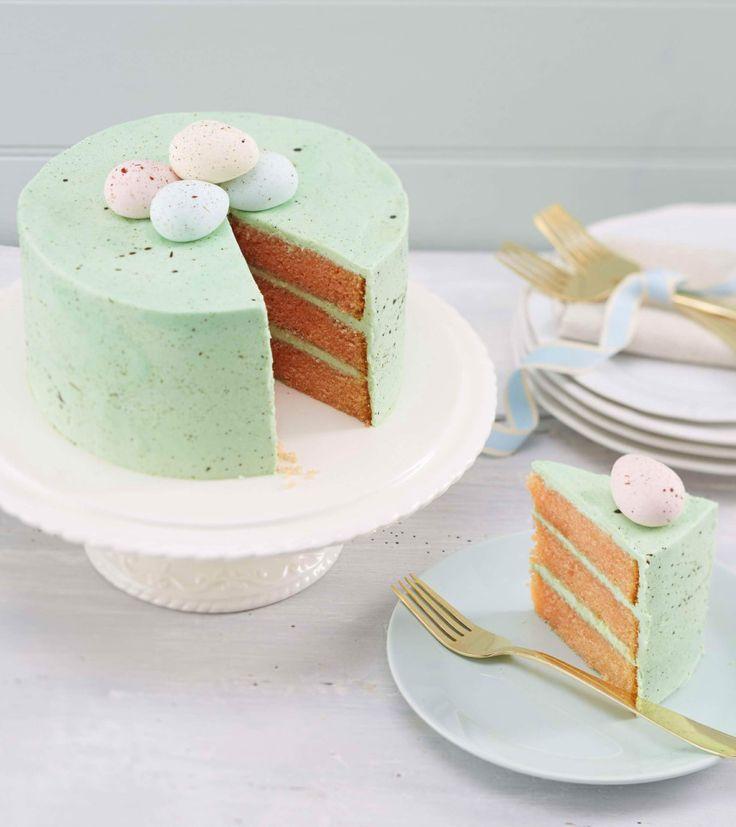 How to Make a Speckled egg Easter Cake #Easter #Baking