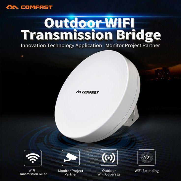 COMFAST 300Mbps wireless transmission bridge 5.8G WIFI extender repeater high power wifi receiver Wireless AP wifi nanos OpenWRT #Affiliate