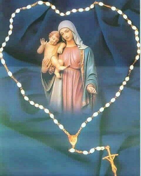 Praying the rosary brings us closer to Jesus & His Mama, which must make Him happy.