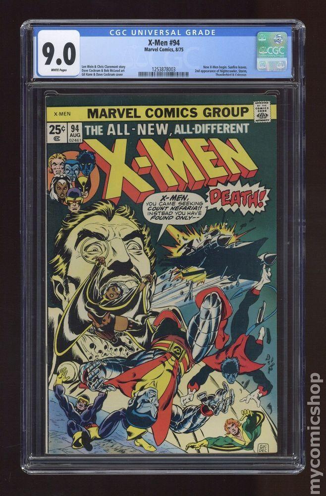 Uncanny X Men 1st Series 94 1975 Cgc 9 0 1253878003 Comics Cgc X Men Nightcrawler Comics