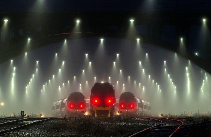 Железнодорожный вокзал в Дании