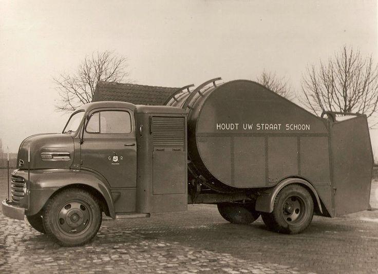 Ford vuilnis auto opbouw Geesink 1948.Foto's uit de oude doos - AutoWeek.nl
