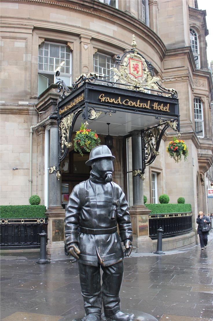 Glasgow, Scotland - Be greeted by the Fireman statue outside central station.