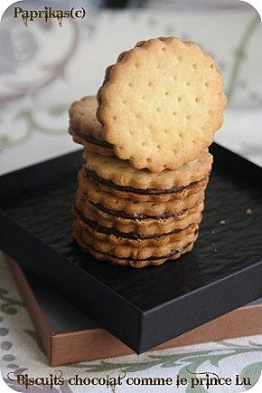 Biscuits chocolat comme les Princes de LU par Paprikas