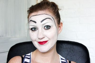 Simple mime make-up (haloween, dress-up)