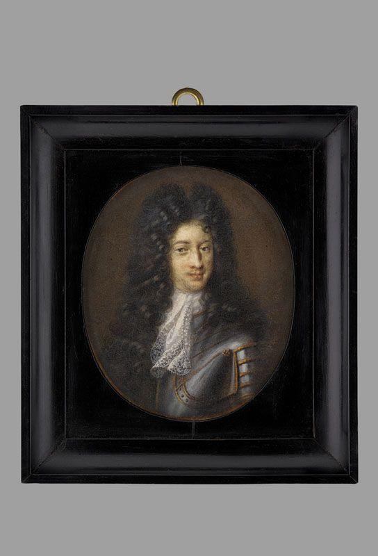 Miniature of Prince Jakub Ludwik Sobieski by François de Troy, 1700s, Muzeum Narodowe w Warszawie (MNW)