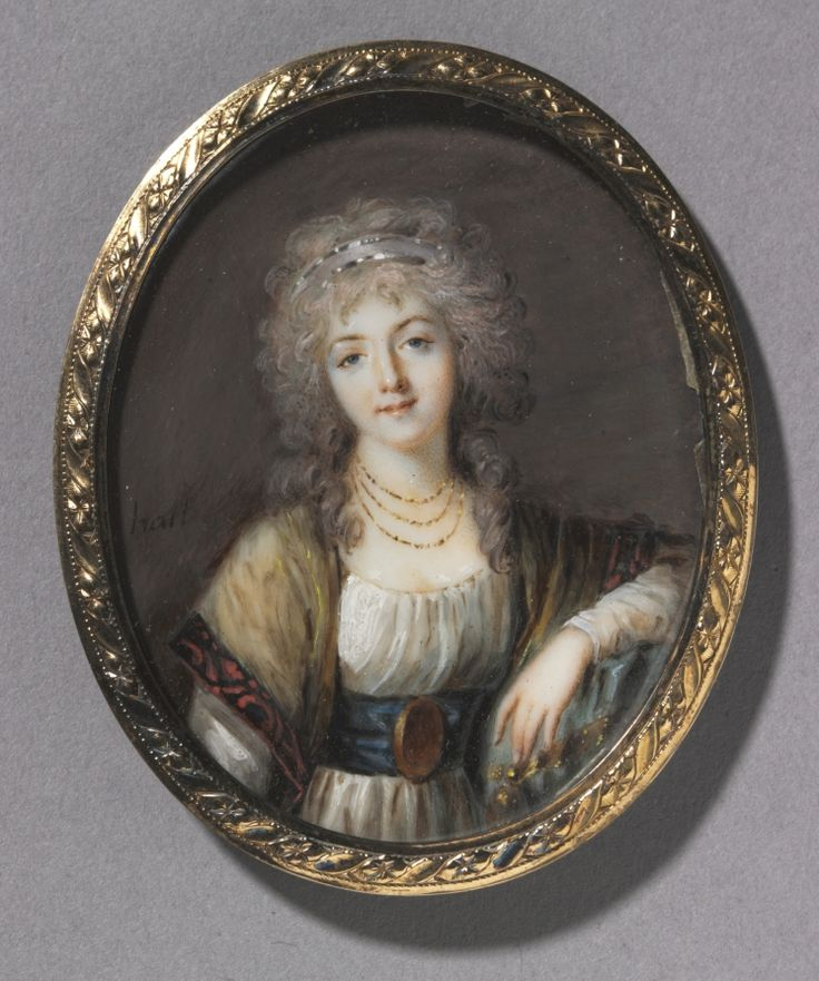 Portrait of a Young Woman, circa 1785 by Charles Henard (1757-1814) (Cleveland Museum of Art)