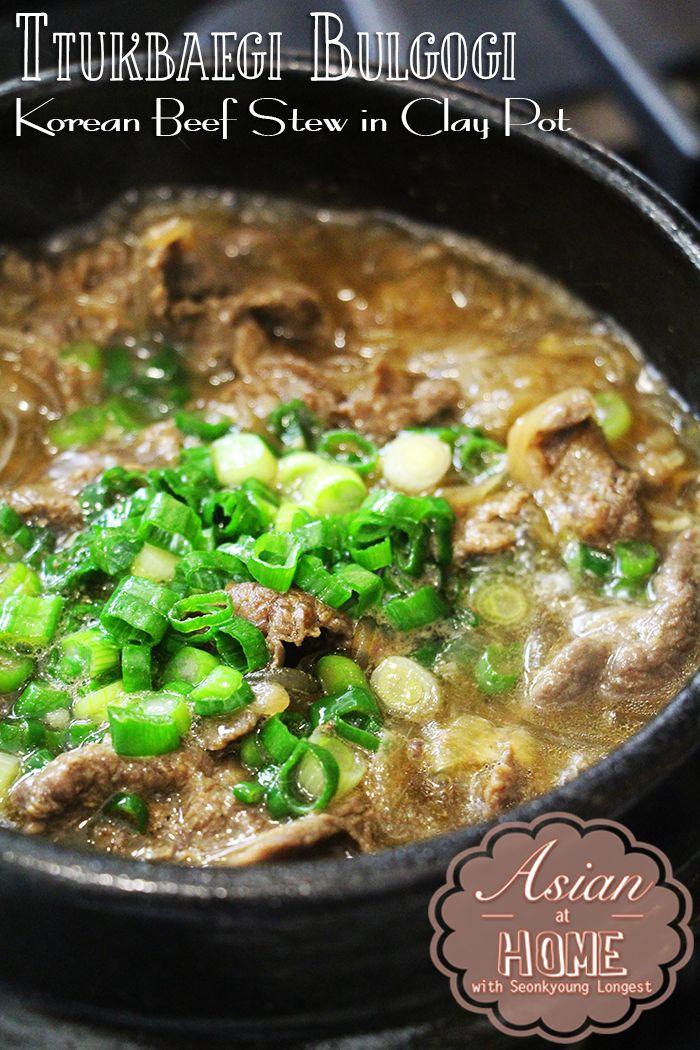 Ttukbaegi Bulgogi (Korean Beef Stew in Clay Pot) - YouTube