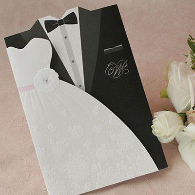 300Sets Dresses Wedding Invitations 300 Cards+ Envelopes + Seals /TU004[required]