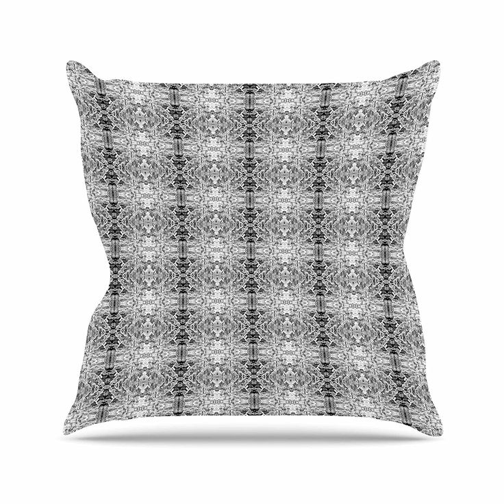 KESS InHouse BS1048AOP03 18 x 18-Inch 'Bruce Stanfield Rage Against the Machine BW Black White' Outdoor Throw Cushion - Multi-Colour