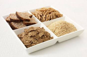 What's in the grains (cereals) group?