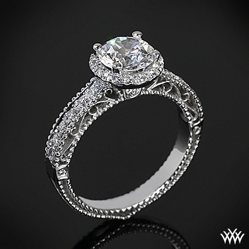 Ooooo YES!! Verragio Venetian Collection: Diamond Engagement Rings, Beads Pave, Verragio Beads, Pave Diamonds, Diamonds Center, Verragio Venetian, Brilliant Diamonds, Diamonds Engagement Rings, Venetian Collection