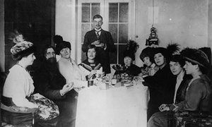Grigori Rasputin and some of his followers in 1911.