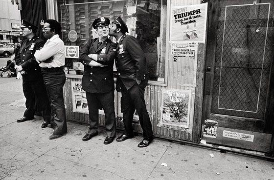 Mary Ellen Mark, Policemen in Harlem during Pope John Paul II's visit, 1979.