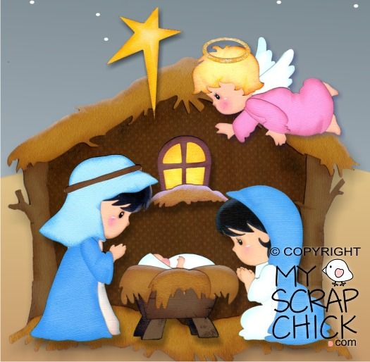 Christmas Nativity 1- Manger: click to enlarge
