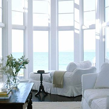 would love to take out my regular window and add a huge bay window in my living room