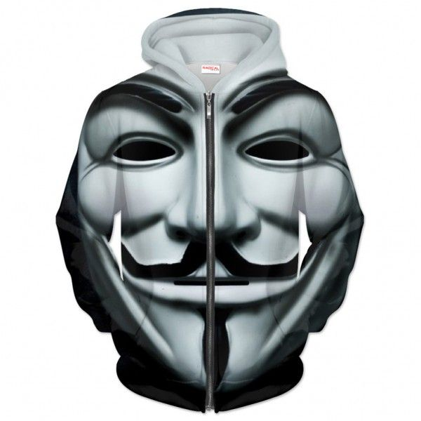 ANONYMOUS MASK Hoodie Full Print 3D