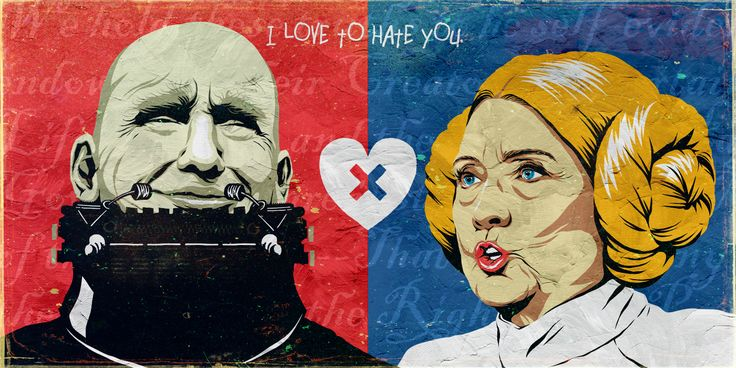 Trump X Hillary: I Love to Hate You | The Series on Behance