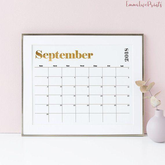Calendar 2018 Office Decor Printable Wall Art Planner 2018 Gift For Her Best Friend Gift Agenda 2018 Printable Wall Calendar Printable Wall Art Wall Calendar