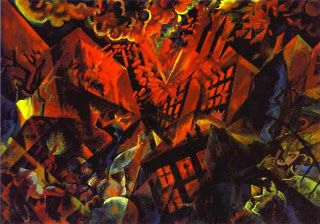 """Explosión, 1919 En 1937, algunas de sus obras fueron llevadas a la exposición de """"Arte Degenerado"""" organizada en Berlín por el poder nazi, y todas fueron retiradas de los museos alemanes. Casi dieciséis mil obras de vanguardia consideradas por Hitler como """" abortos de cerebros enfermos, judios o agitadores bolcheviques"""" fueron confiscadas"""