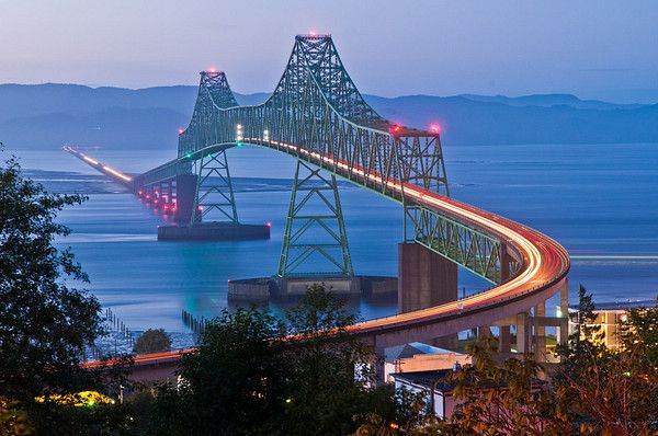 Oregon State to Washington State Bridge, Astoria Oregon.  Astoria - such a wonderful little town.