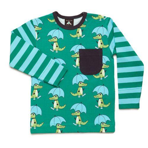 Long Sleeve T-Shirt Mr Croco with Pocket