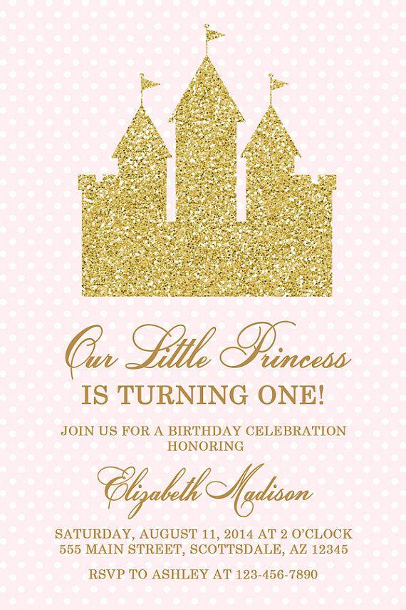Princess Castle Birthday Party Invitation Castle by Honeyprint