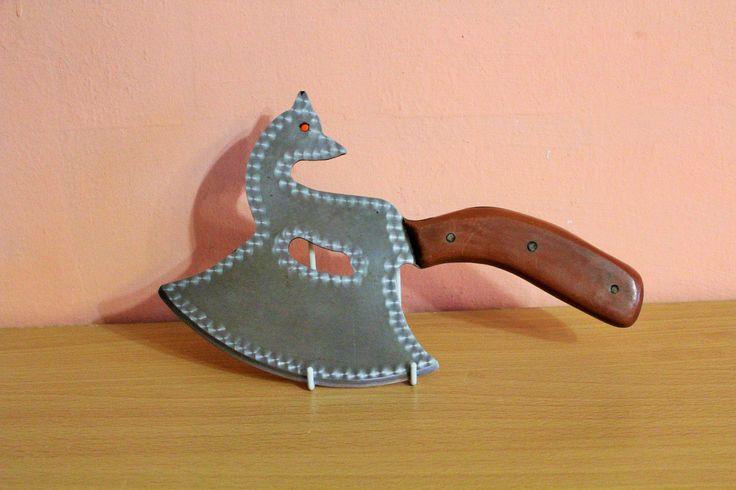 Vintage Antique Primitive Fox Wolf Shape Meat Axe Meat Cleaver Knife Folk Art Butchers Farmhouse Tool by Grandchildattic on Etsy