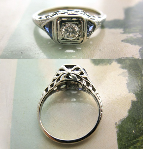 collecting images of vintage engagement rings. mmkay.