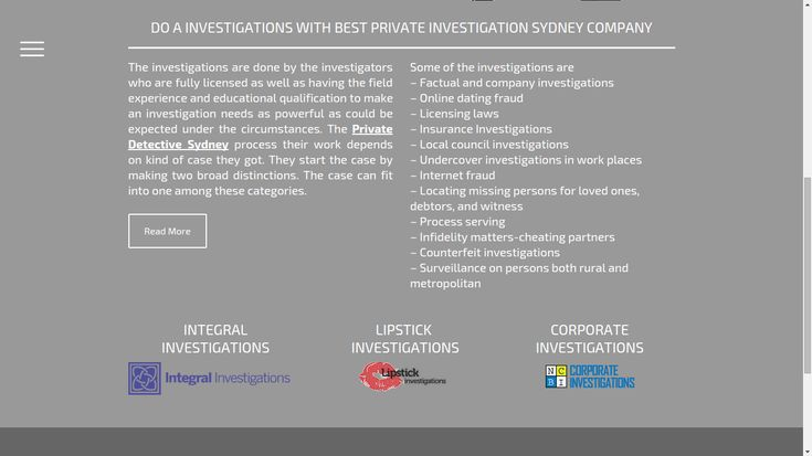 Are you from Sydney and searching for Private detective? Here you can find best private investigation team & licenced private investigators Sydney wide. Call us for Private detective in Sydney.