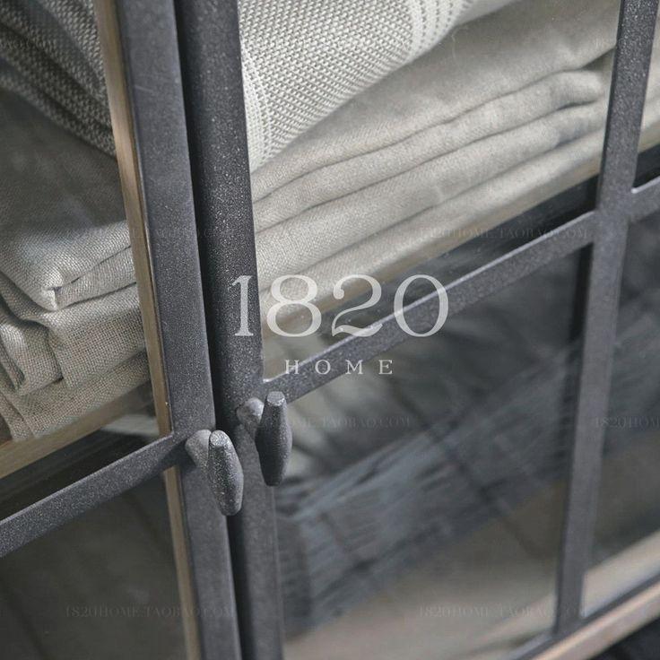 1820HOME экспортировать Франция / LOET сельские скандинавском стиле мраморные столешницы древесины можно разделить весь кабинет - Taobao