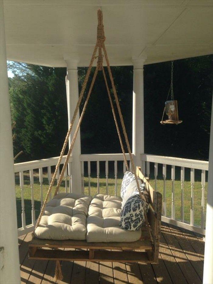 die besten 25 paletten schaukel betten ideen auf. Black Bedroom Furniture Sets. Home Design Ideas