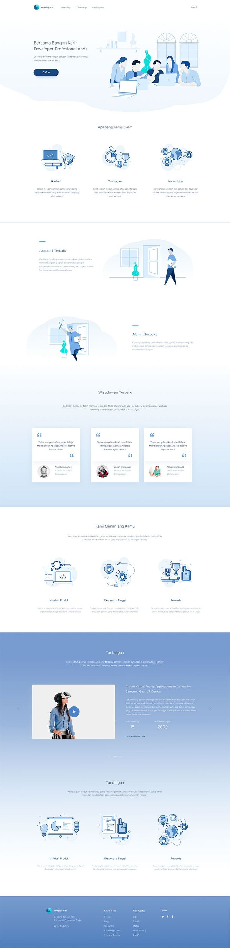 Education Platform Website by Anggit Yuniar